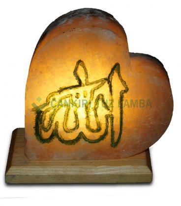 El İşleme Allah Lafzı Kalp Tuz Lamba Kalın Klasik