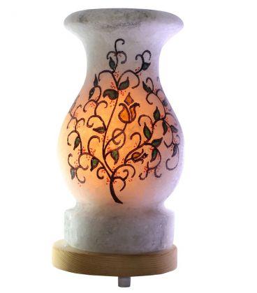 Sarmaşık Çizimli Vazo Kaya Tuz Lamba 4 Kg