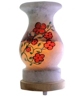 Gelincik Çizimli Vazo Tuz Lambası 4 Kg