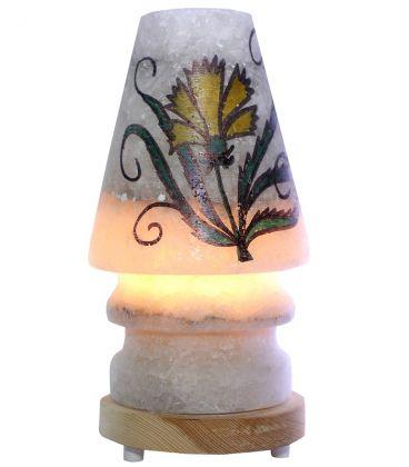 Sarı Karanfil Çiçekli Abajur Tuz Lamba 4 Kg
