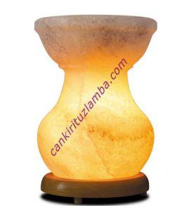 Kırmızı tuz parçacıklı tuz çanağı şekilli tuz lambası ( küçük boy)