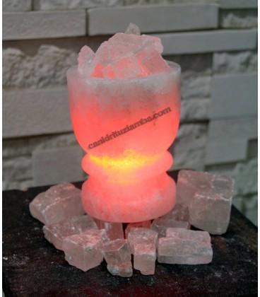 Sole Kristal Tuzlu Tuz Çanağı Şekilli Tuz Lambası