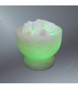 İkili kalp tuz lambası (pembe)
