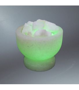 Yeşil Tuz Çanağı Şekilli Tuz Lamba