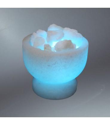 Deniz Mavisi Tuz Çanağı Kaya Tuzu Lambası