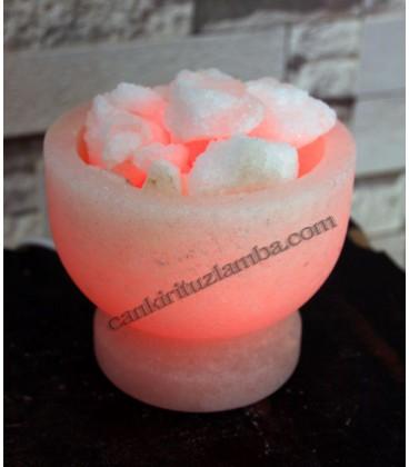 Pembe Tuz Çanağı Şekilli Tuz Lambası