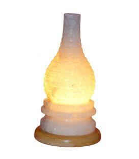 Kıvrımlı Gaz Lambası Şekilli Sarı Tuz Lamba