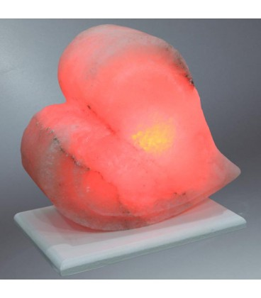 Pembe Çift Kalp Tuz Lambası