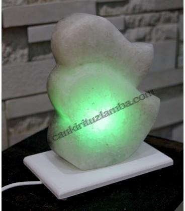 İkili Yeşil Kalp Çankırı Tuz Lambası