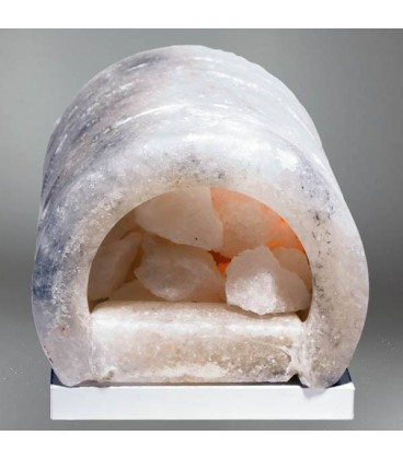 Oval Şömine Tuz Lamba