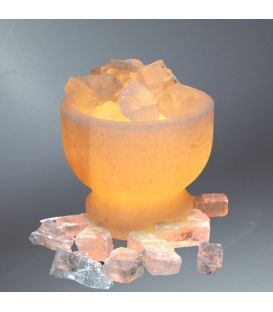 Sarı Kristal Sole Parçacıklı Çanak Tuz Lamba