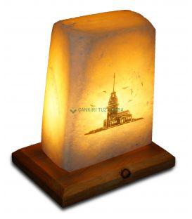 Aşk İstanbul Kız Kulesi Baskılı Tuz Lambası