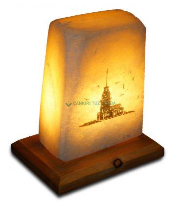 İstanbul Kız Kulesi Baskılı Tuz Lambası