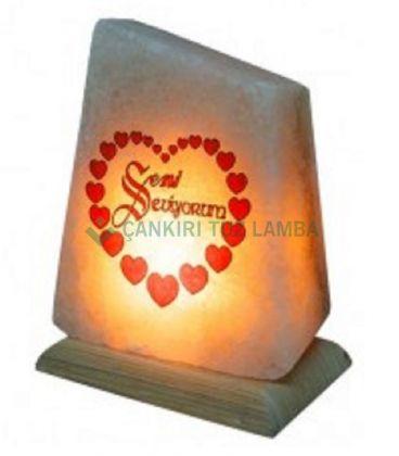 Seni Seviyorum Yazılı Tuz Lambası