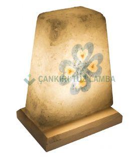 Ebru Sanatı Şekilli Tuz Lambası