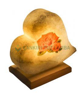 Çiçek Kalp Tuz Lambası
