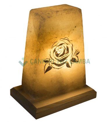 Çiçek Desenli Tuz Lambası