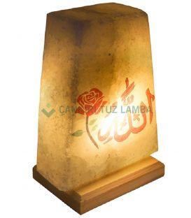Gül Allah Lafızlı Tuz Lambası
