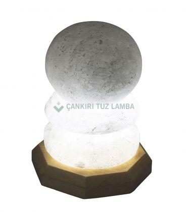 Led Işıklı Küre Tuz Lamba
