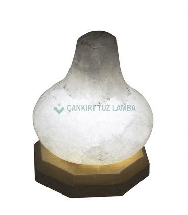 Led Işıklı Tuz Lamba (Mor Gaz Lambası Biblo)