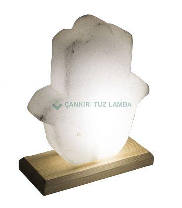Led Işıklı Tuz Lamba (Mor Işıklı Vazo Biblo)