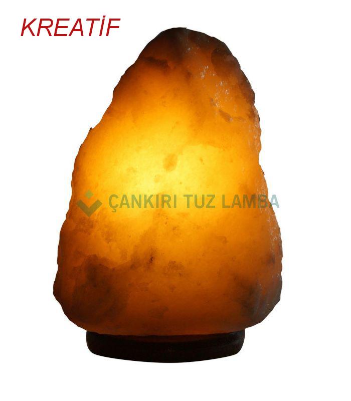 Kreatif doğal kaya tuzu lambası