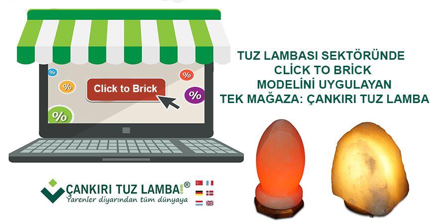 Tuz Lambası Sektöründe Click to Brick Modelini Uygulayan Tek Mağaza: Çankırı Tuz Lamba